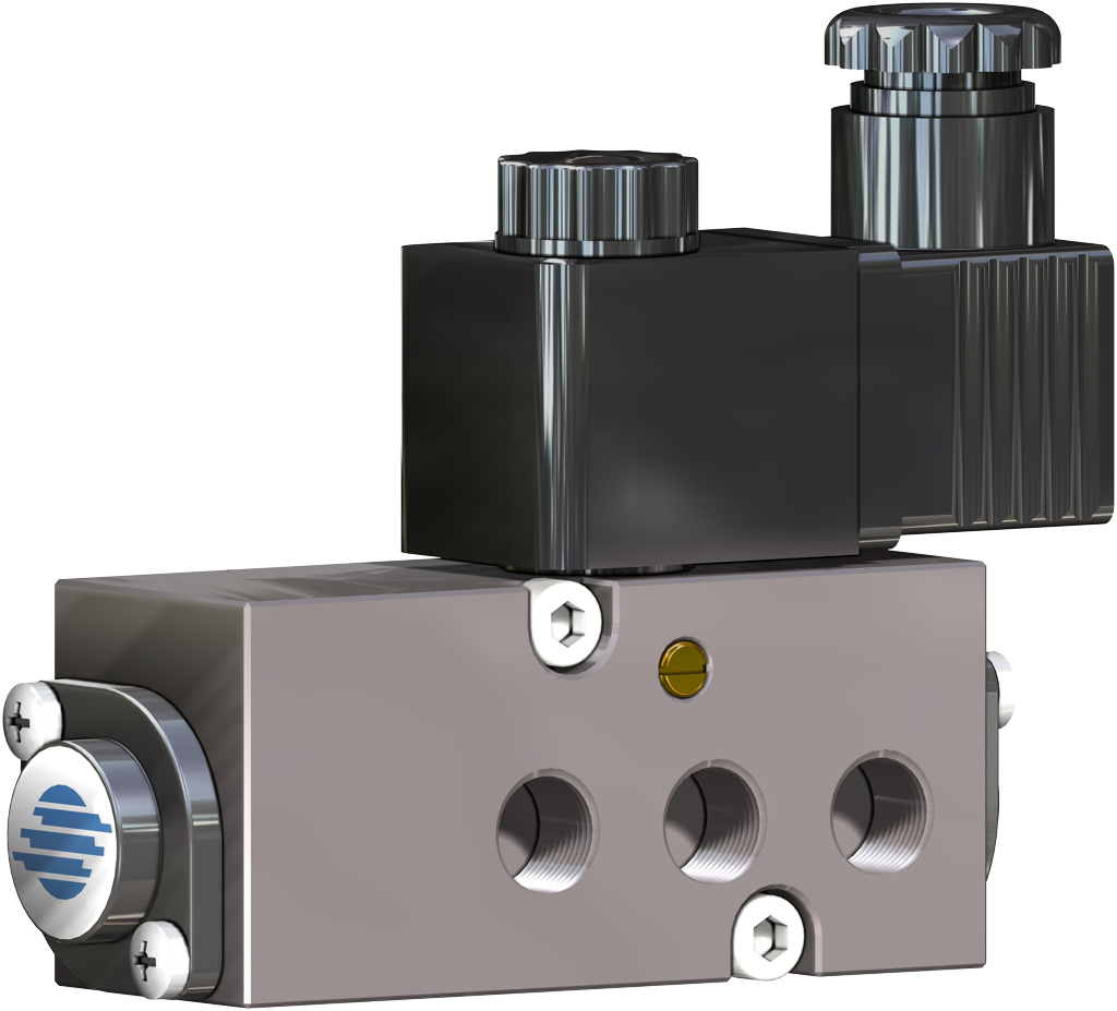 GS (spring return) pneumatic actuator CF8M (microcast stainless steel) - accessories - NAMUR SOLENOID VALVES