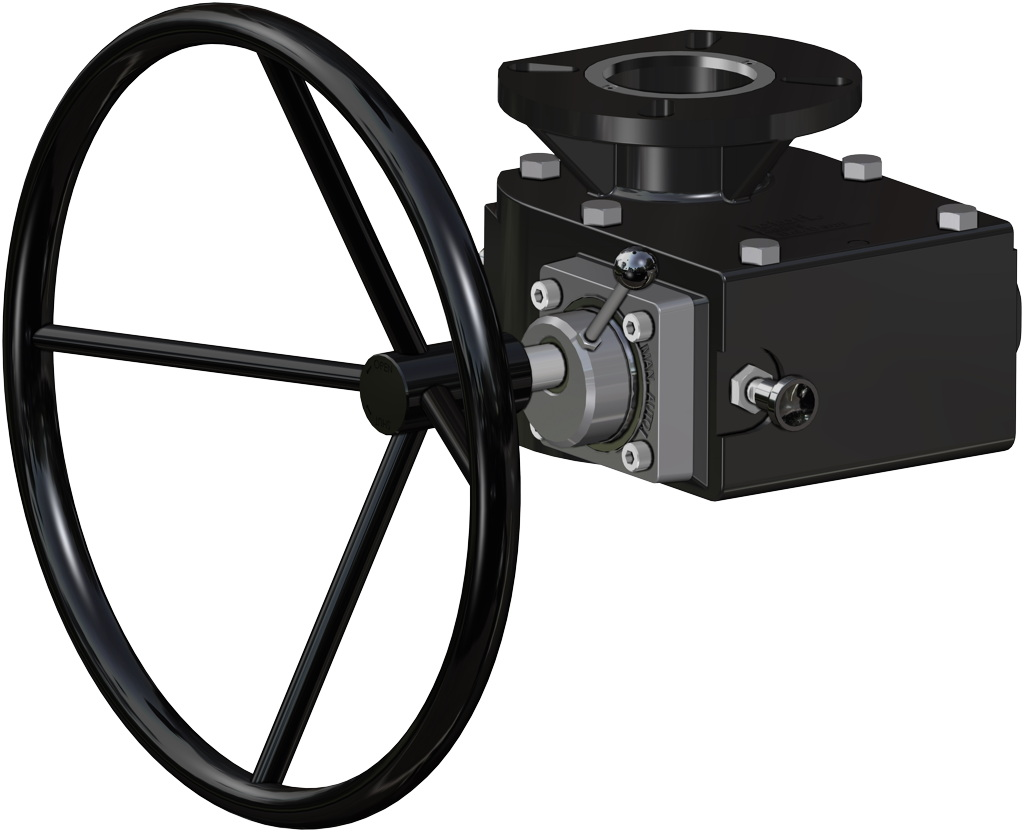 GS (spring return) pneumatic actuator, high temperature (-20°C / + 150°C) - accessories - MANUAL OVERRIDE WITH HAND WHEEL
